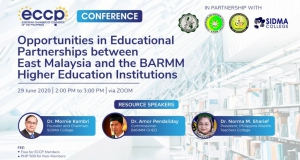 SIDMA College Sabah, ECCP Members initiated Webinars on Opportunities in Education Partnerships